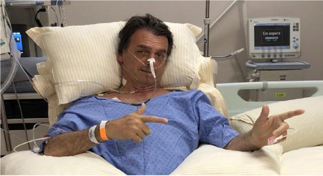 Na cama do hospital, Bolsonaro tem melhoras no quadro de saúde I Poder360