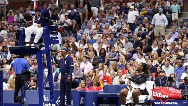 La discusión de Serena con el juez de silla fue triste e inesperada. USOpen.org.