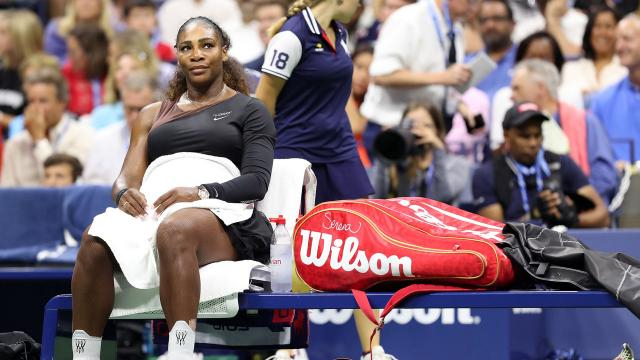 Serena tuvo una noche negra en la final del US Open. USOpen.org.