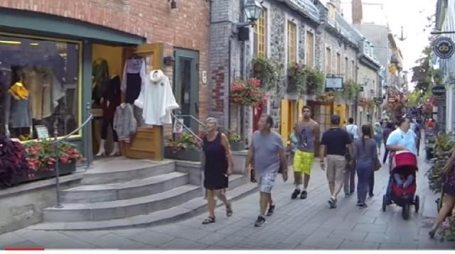 A street view of Quebec City. [Image source/Luigi Salvi YouTube video]
