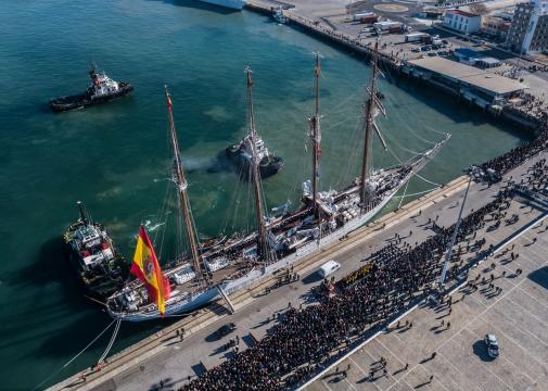 Este crucero de instrucción conmemora el 500º aniversario de la Primera Vuelta al Mundo