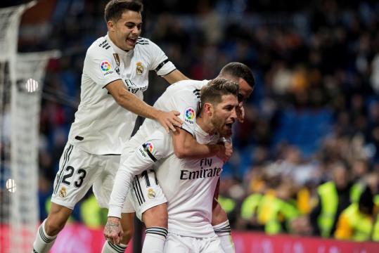 Celebración de los jugadores del Real Madrid esta temporada. BigData News - iwantdata.com