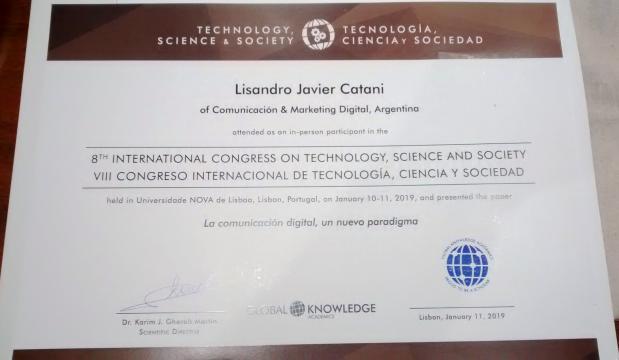 Certificado del Congreso de la Universidad Nova