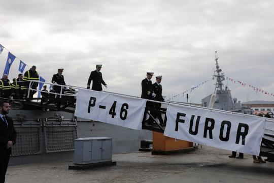 Antes de la entrega se realiza una inspección primaria del nuevo buque