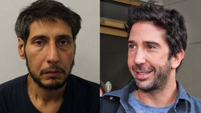 The captured thief does not look like David Schwimmer from