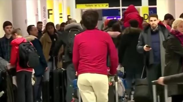 Drone Sightings Halt Flights In Newark. [Image source/CBS New York YouTube video]