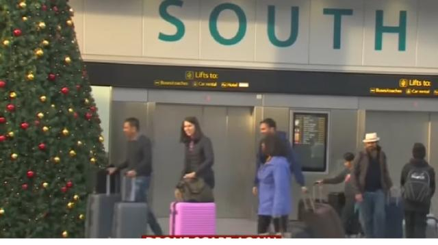Reports of drones disrupt flights at Newark Airport. [Image source/WION YouTube video]