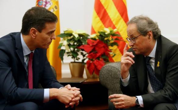 Pedro Sánchez acepta un diálogo con Quim Torra asistido