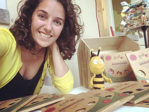 Natalia Díaz, impulsora de la iniciativa. Foto cedida por Ismael Morales López