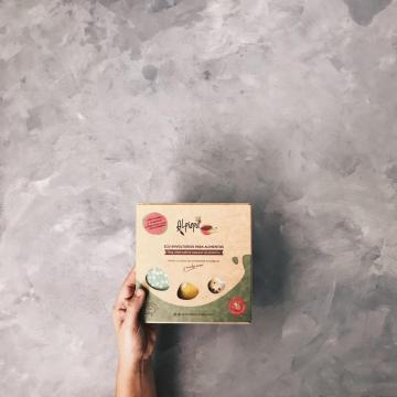 Packaging de los envoltorios. Foto cedida por Ismael Morales López