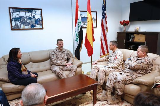Reunión con los mandos internacionales de la misión