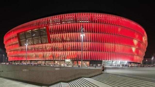 Vista exterior del Estadio de San Mamés (Bilbao)