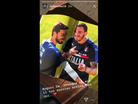 Juventus, il messaggio di Bonucci per Astori