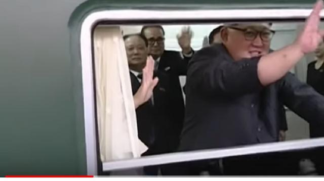 Kim Jong-un on his way to China to meet Xi Jinping. [Image source/Newsy YouTube video]