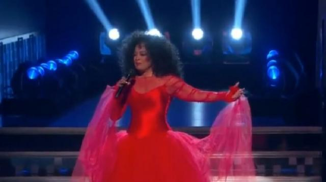 Diana Ross performing at the 2019 Grammy Awards. [Image source/Clips n Pics YouTube video]