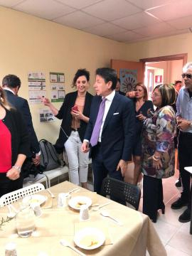 Cooperativa Lai Isernia, la visita di Conte