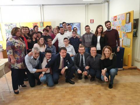 Foto di gruppo con il premier Giuseppe Conte