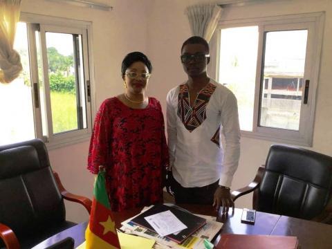 Le Dr Albert Ze en compagnie de l'Ambassadeur du Cameroun en Côte d'Ivoire (c) Albert ze