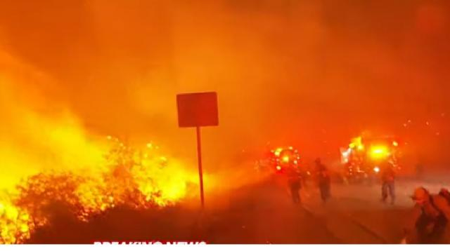 Saddle Ridge fire forces nearly 100,000 residents to evacuate. [Image source/ABC News YouTube video]