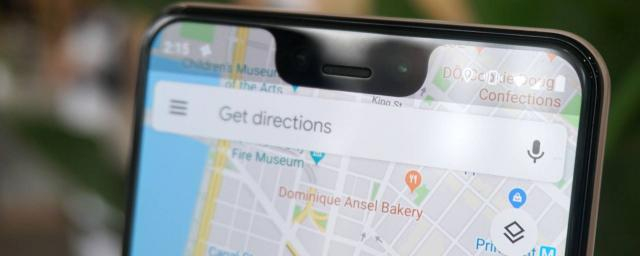 Il layout di Google Maps su iPhone
