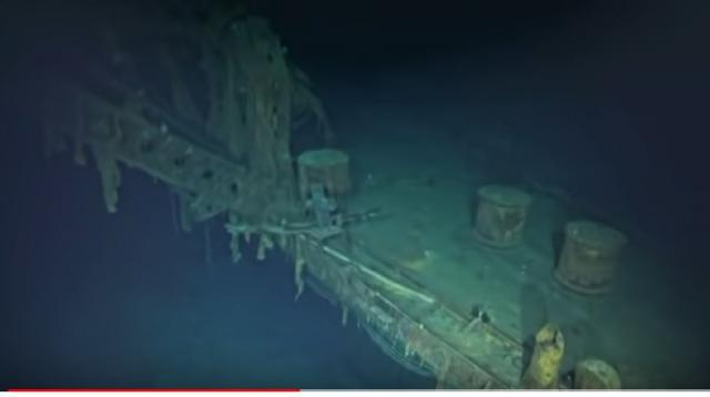 Deep-sea explorers hunt for sunken WWII ships. [Image source/Associated Press YouTube video]