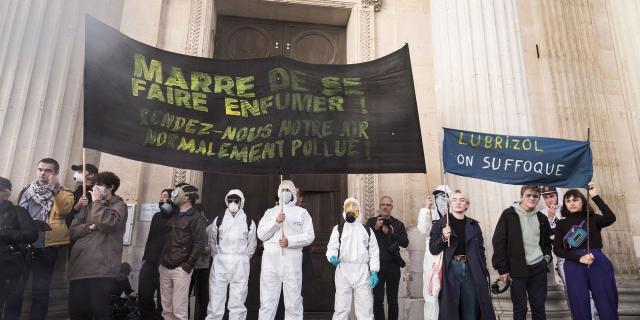 Manifestation des riverains de Rouen
