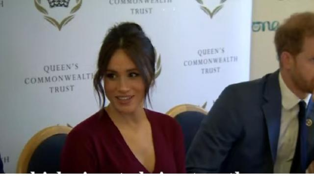 Meghan Markle: We can't talk about women's empowerment without men. [Image source/The Telegraph YouTube video]
