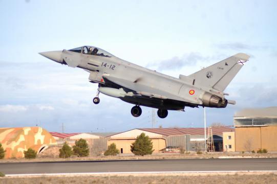 Con Eurofighter y F-18 el EDA empleo su total variedad de aviones de combate