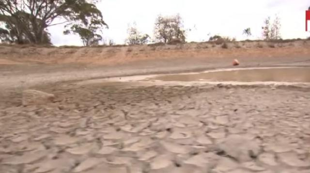 Queensland drought crisis so dire people are stealing water. [Image source – Nine News Australia YouTube video]
