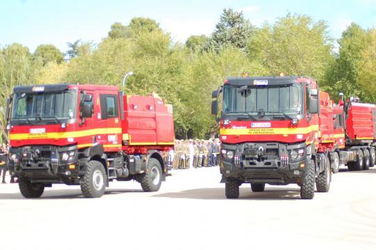 La capacidad de los vehiculos de emergencias de la UME es contundente