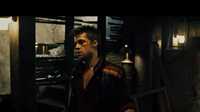 A scene from Fight Club starring Brad Pitt and Edward Norton | 20th Anniversary. [Image source/20th Century FOX YouTube video]