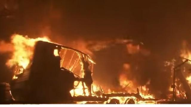 The Camp Fire has destroyed more than 6,700 buildings in Northern California. [Image source/ABC News YouTube video]