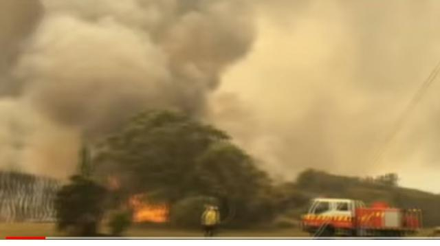 New South Wales braces for unprecedented fire danger. [Image source/ABC News (Australia) YouTube video]