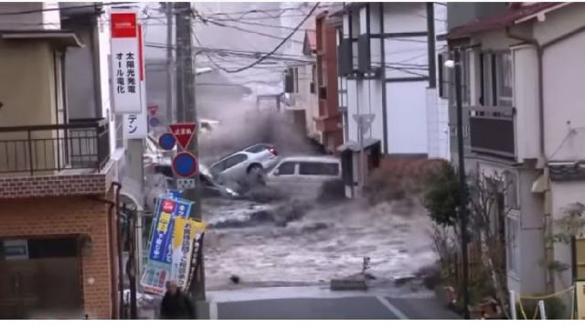 2014: The aftermath of the Fukushima disaster. [Image source/60 Minutes YouTube video]