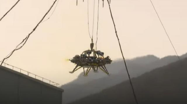 It's official: China's first Mars lander makes debut. [Image source/CGTN YouTube video]