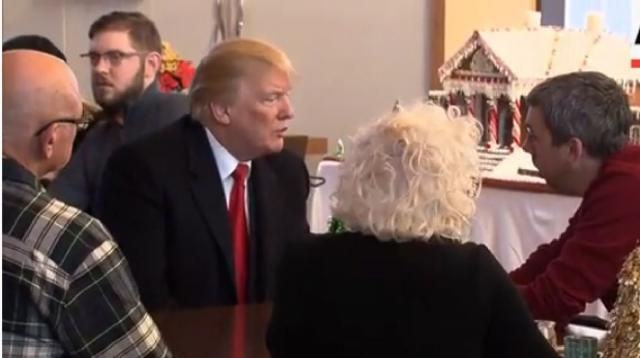 Trump visits wounded troops at Walter Reed. [Image source/AP Archive YouTube video]