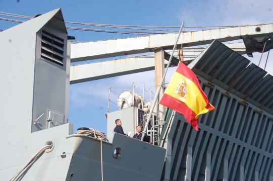 La bandera de combate del Camino Español es arriada por última vez
