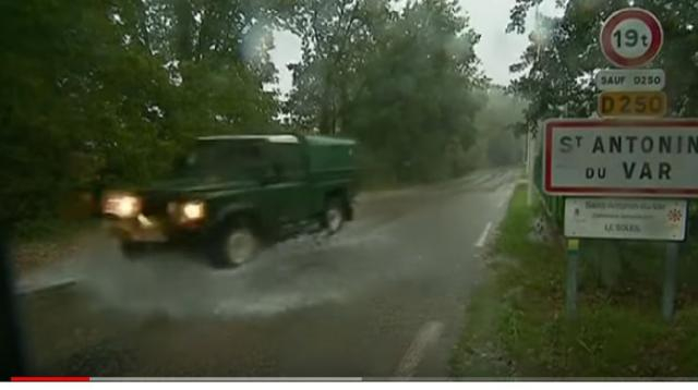 Flood alerts as heavy rain lashes parts of France and Italy. [Image source/euronews (in English) YouTube video]