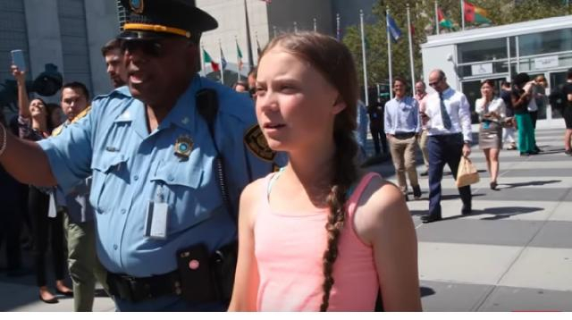 Activist Greta Thunberg on how to make sure the word does not 'give up' the climate fight. [Image source/Washington Post YouTube video]