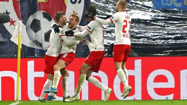 El Leipzig avanzó por primera vez a unos 8vos de final de Champions League. www.bundesliga.com