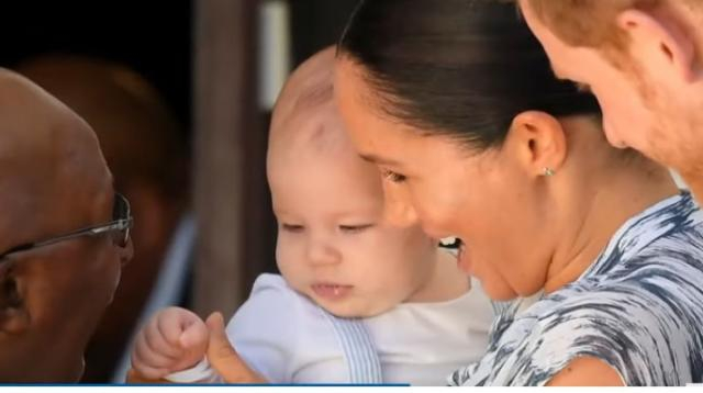 Baby Archie makes Africa tour debut with Prince Harry, Meghan Markle. [Image source/TODAY YouTube video]