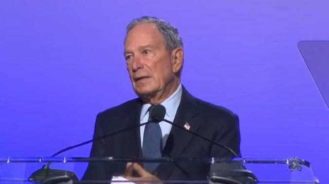 Michael Bloomberg moves to enter Presidential race. [Image source/MSNBC YouTube video]