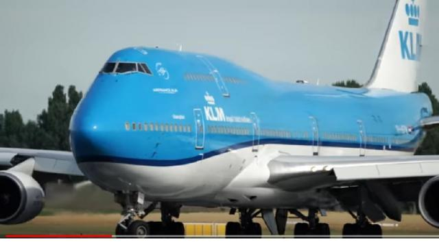 BOEING 747 takeoff at Amsterdam Airport Schiphol. [Image source/PlanesWeekly YouTube video]