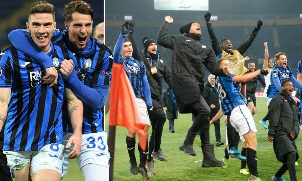 Atalanta pasó por primera vez en su historia a 8vos de Champions. www.dailymail.co.uk