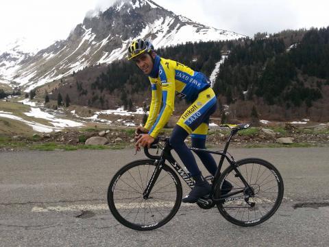 Alberto Contador en la montaña