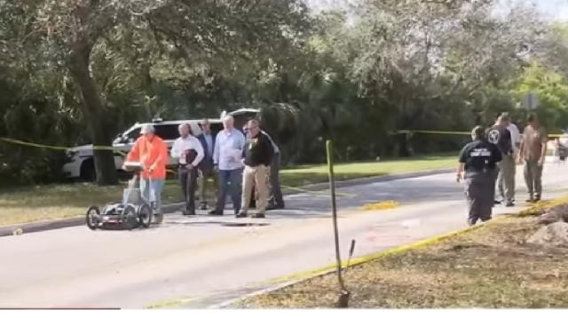Police find tunnel stretching from wooded area to bank. [Image source/WPLG Local 10 YouTube video]