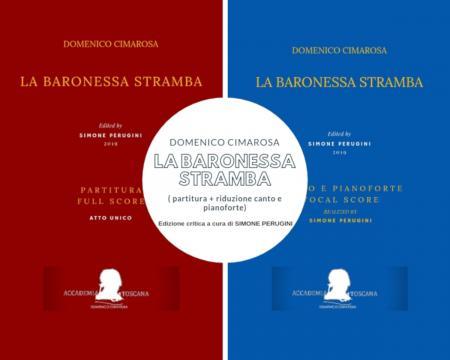 Frontespizi dell'edizione critica de 'La baronessa stramba' di Cimarosa