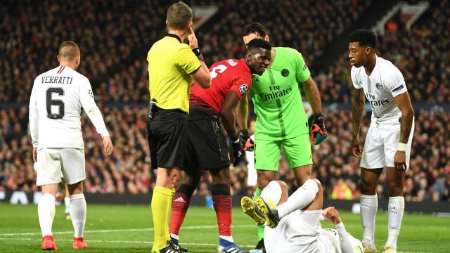 El United no tendrá a Pogba para la vuelta de 8vos. www.stadiumastro.com