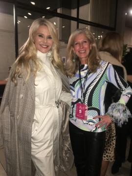 Supermodel Christie Brinkley and Tracey Fitzpatrick New York Fashion Week/via Tracey Fitzpatrick