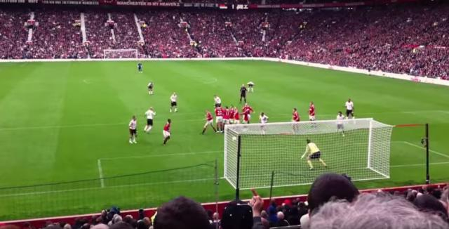 Manchester United vs Liverpool. Old Trafford. Liverpool goal.